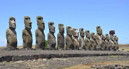 Moai dell'isola di Pasqua, Cile