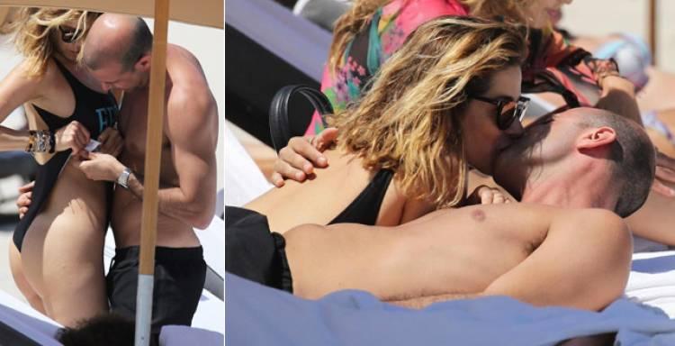 Aida Yespica, baci e carezze hot con il nuovo fidanzato Matteo Cavalli