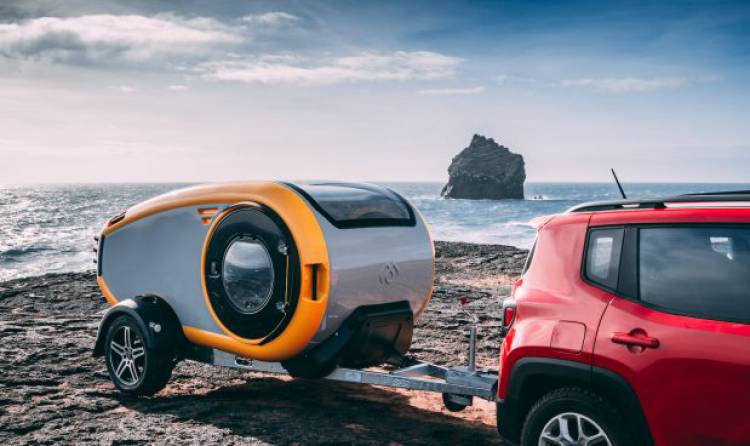 Viaggi on the road: la mini roulotte a forma di goccia